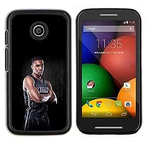 Qstar Arte & diseño plástico duro Fundas Cover Cubre Hard Case Cover para Motorola Moto E (Miami Jugador de Baloncesto)