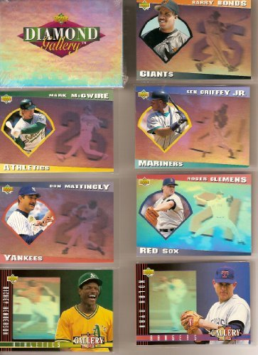 1993 Upper Deck Baseball Factory (1993 Upper Deck Baseball Diamond Gallery Hologram Factory Sealed Complete Set (Barry Bonds) (Cal Ripken) (Don Mattingly) (Ozzie Smith) (Mike Piazza) (Mark McGwire) (George Brett) (Robin Yount) (Rickey Henderson) (Nolan Ryan))