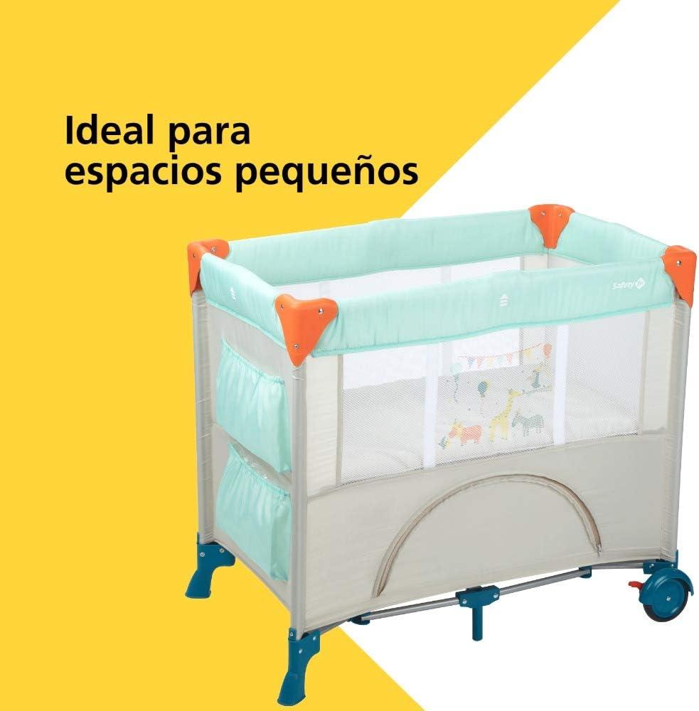 Cuna port/átil y compacta 9 kilos color Happy Day con bolsa de viaje 0 meses Cuna de viaje plegable Safety 1st Mini Dreams Parque cuna beb/é