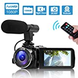 Camcorder Video Camera Full HD 1080P Night Vision Camcorder Vlogging Camera Blogging Camera 16x Digital Camera Vlog Video Camera