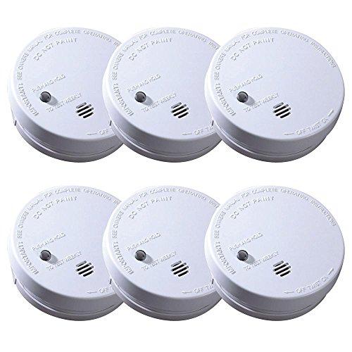 - Kidde 21008057 Battery Operated Ionization Smoke Alarm, 6-Pack
