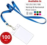 Durably Woven Lanyards & Vertical ID Badge Holders ~ Premium Quality