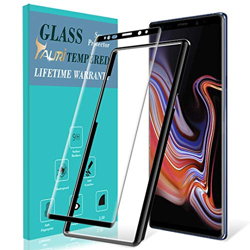 TAURI Screen Protector for Samsung Galaxy Note 9, Tempered Glass [Alignment Frame] [Case Friendly] 3D Curved Screen Protector with Lifetime Replacement Warranty - Black