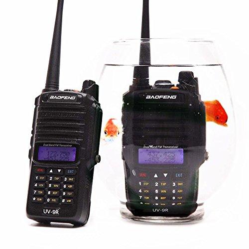 Baofeng UV-9R 136-174/400-520MHZ VHF/UHF Dual Band Dustproof Waterproof IP57 Transceiver Walkie Talkie Two Way ()