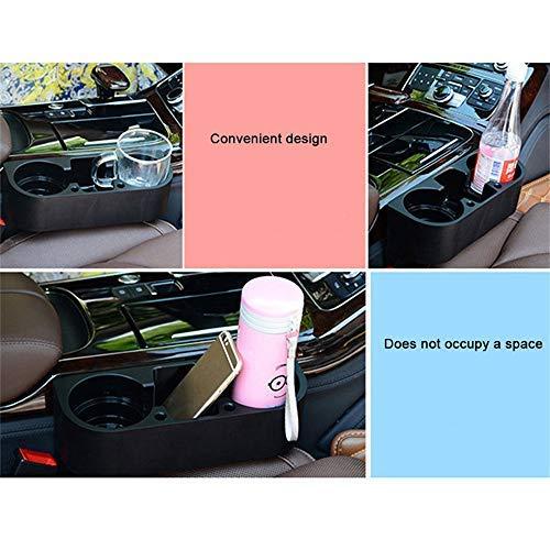 Schwarz Auto Autositz Seiten Getr/änkehalter Lagerung Trinkflasche Fahrzeug Kann Becherhalter Stehen Universal Multifunktions