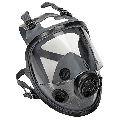 North by Honeywell 54001 5400 Series Low Maintenance Full Facepiece Respirators, - Respirator North