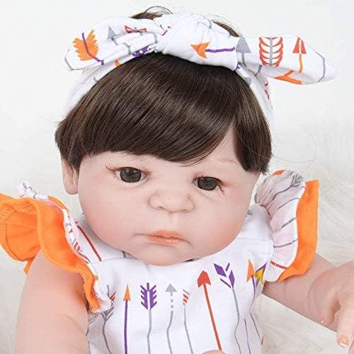 Reborn-poppen, Verzorgende poppen, Vroege educatie Speelgoedsimulatie Reborn-poppen Meisje Speelgoedcollectie Gift Mogelijk Bad 55 cm Verzorgende poppen
