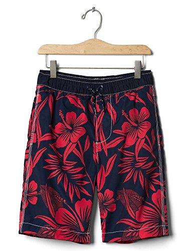 GAP Kids Boys' Hibiscus Floral Swim Trunks - Size Small (6-7) (Gap Drawstring)