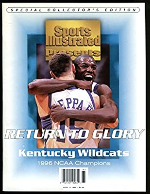 1996 Sports Illustrated Tony Delk Jeff Sheppard Kentucky No Label NCAA Champs Ex