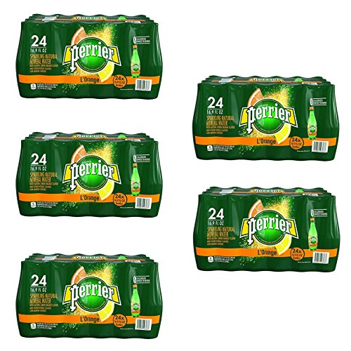 Perrier Sparkling Natural Mineral Water, Lemon Orange 16.9-ounce plastic bottles (Pack of 120) by Perrier