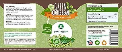 Amazon Com Green Coffee Bean Extract 100 Pure 1600mg Daily