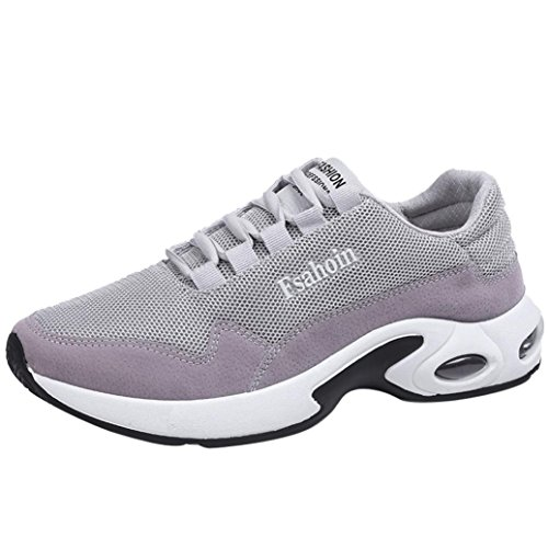 Hot Sale Mens Running Shoes Casual Lace up Ventilation Shock Absorption Athletic Sneakers (Gray, US:9) by Aurorax-Sneakers