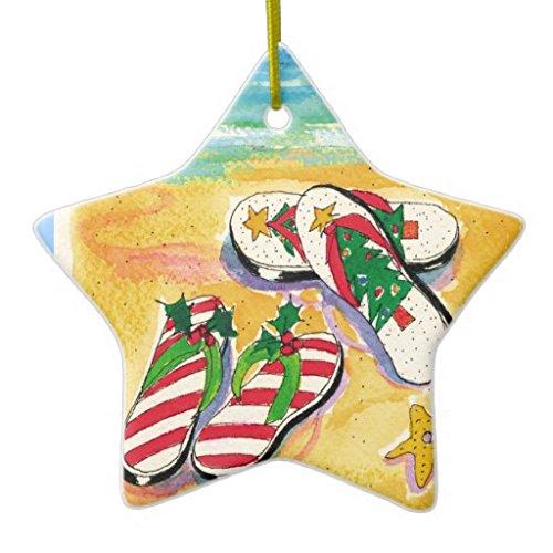 Holiday flipflops star ornament