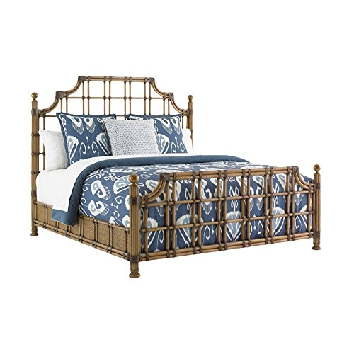 Tommy Bahama Twin Palms St. Kitts Queen Rattan Bed in Brown (Tommy Rattan Furniture Bahama)
