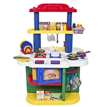 Best Choice Products Deluxe Children Kitchen Cooking Pretend Play Set With  Accessories, Multicolor Part 56