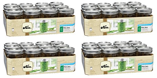 Kerr 518 Wide Mouth Jars with Lids and Bands, 16-Ounce, Set of 12 (4)