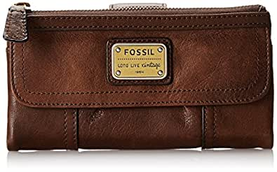 Fossil Emory Zip Wallet, Espresso, One Size