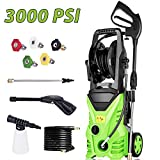 Homdox 3000 PSI Electric Pressure Washer, High Pressure Washer, Professional Washer Cleaner Machine with 5 Interchangeable Nozzles, 1800W,1.80 GPM