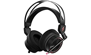 1MORE Spearhead VR Gaming Over-Ear Headphones Comfortable Headset with Super Bass, 7.1 Stereo Surround Sound, Dual Mic Noise Cancellation and LED for PC/PS4/XBOX/iPhone/iPad/Android - Black
