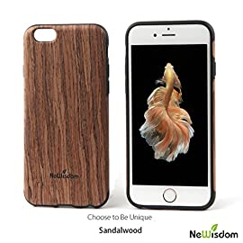 NeWisdom iPhone 6 plus/6s Plus /7 Plus / 8 Plus/iPhone x Wood Case, Best Protection Genuine Natural Soft Wood Case Cover 14 Genuine natural wood selected,combination of real wood and high-end TPU.Each one is Unique as the original wooden texture is distinct and unique. Wood grain of the case you receive may be a little different from the photos.Two leaves are not exactly same to each other in the world.Choose to be unique. Note:You must be excited when receiving this special gift,but do not bend too hard to avoid breaking of natural wood grain.