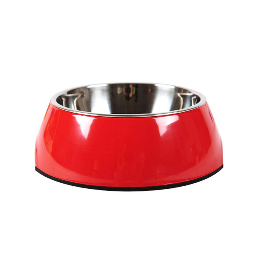 Red XL Red XL Dog Pot Dog Bowl pet cat Bowl Double Bowl Large Dog Rice Bowl Stainless Steel Dog Food Bowl Dog Supplies (color   Red, Size   XL)