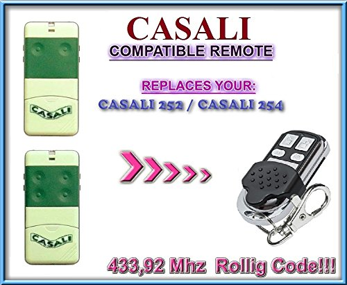 CASALI 252 / CASALI 254 replacement remote control / 433,92Mhz Rolling code