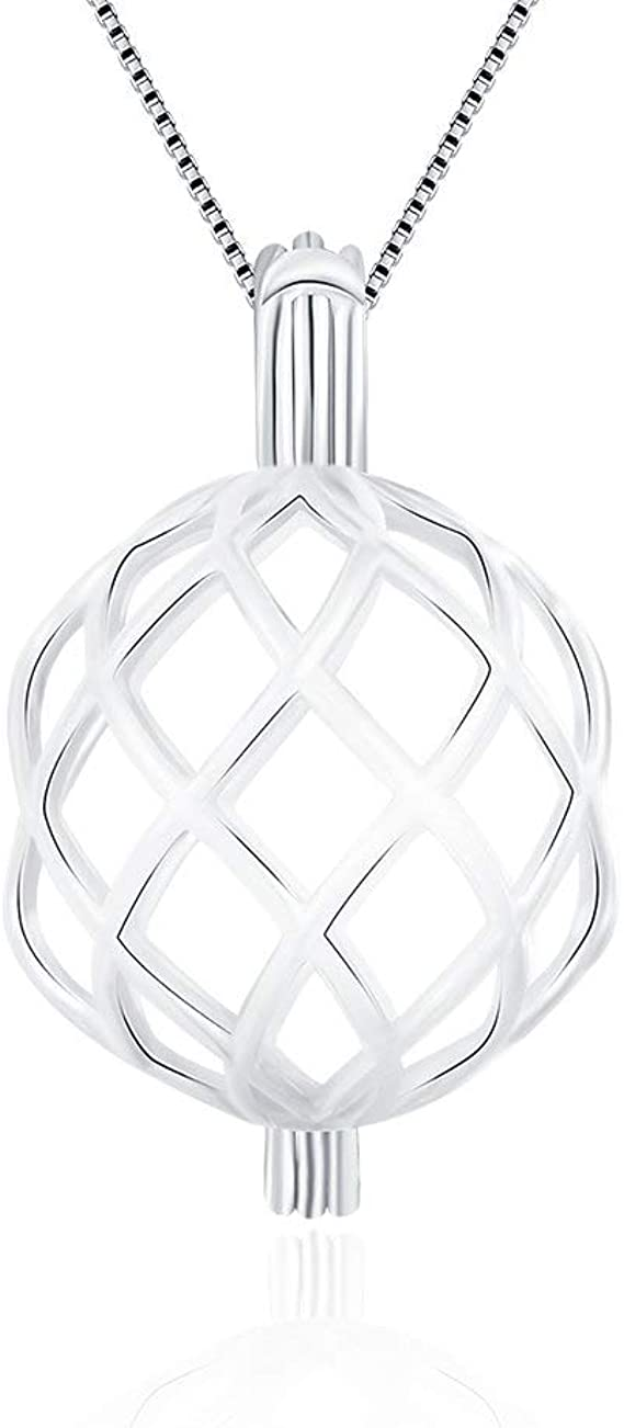 Holds One Pearl Spider Pearl CageDiffuser Cage Pendant- *Pearl Not Included* Sterling Silver .925 Black Widow *Halloween*