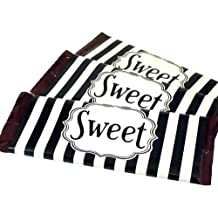 Bella Cupcake Couture Labels Candy Bar Wrappers, Striped Black and White