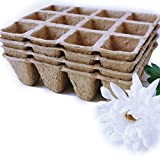 Peat Pots Seed Starter Tray 48 Cells, 1.5inch x 1.5inch in Width, 2inch in Height Plant Nursery Cells