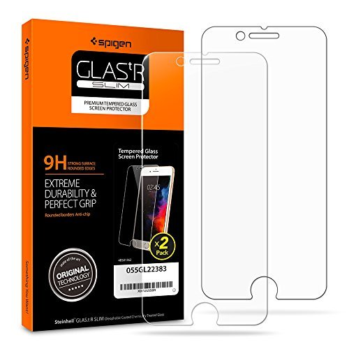 Spigen iPhone 8 Plus Screen Protector Tempered Glass [Case Friendly] 2 Pack for Apple iPhone 8 Plus (2017)