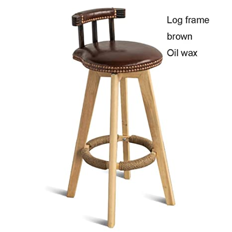 Amazing Amazon Com Rotating Solid Wood Bar Stool Modern Bar Chair Machost Co Dining Chair Design Ideas Machostcouk