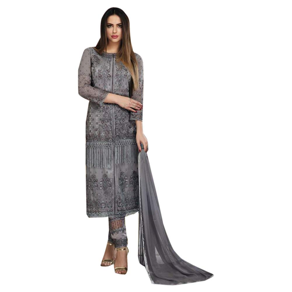 Muslim Designer Heavy Elegant Embroidery work Heavy Net Salwar Kameez Festival Indian Ethnic wear 7161