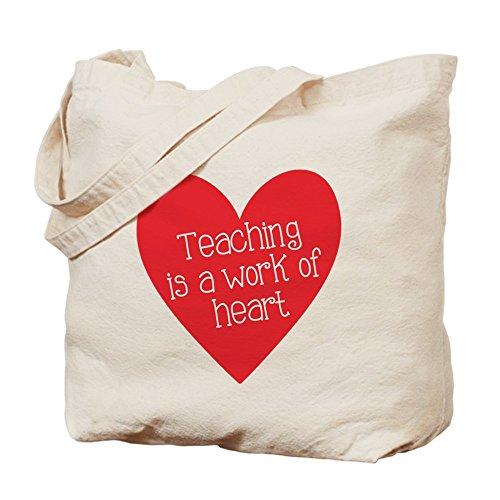 CafePress profesor de color rojo corazón–Gamuza de bolsa de lona bolsa, bolsa de la compra