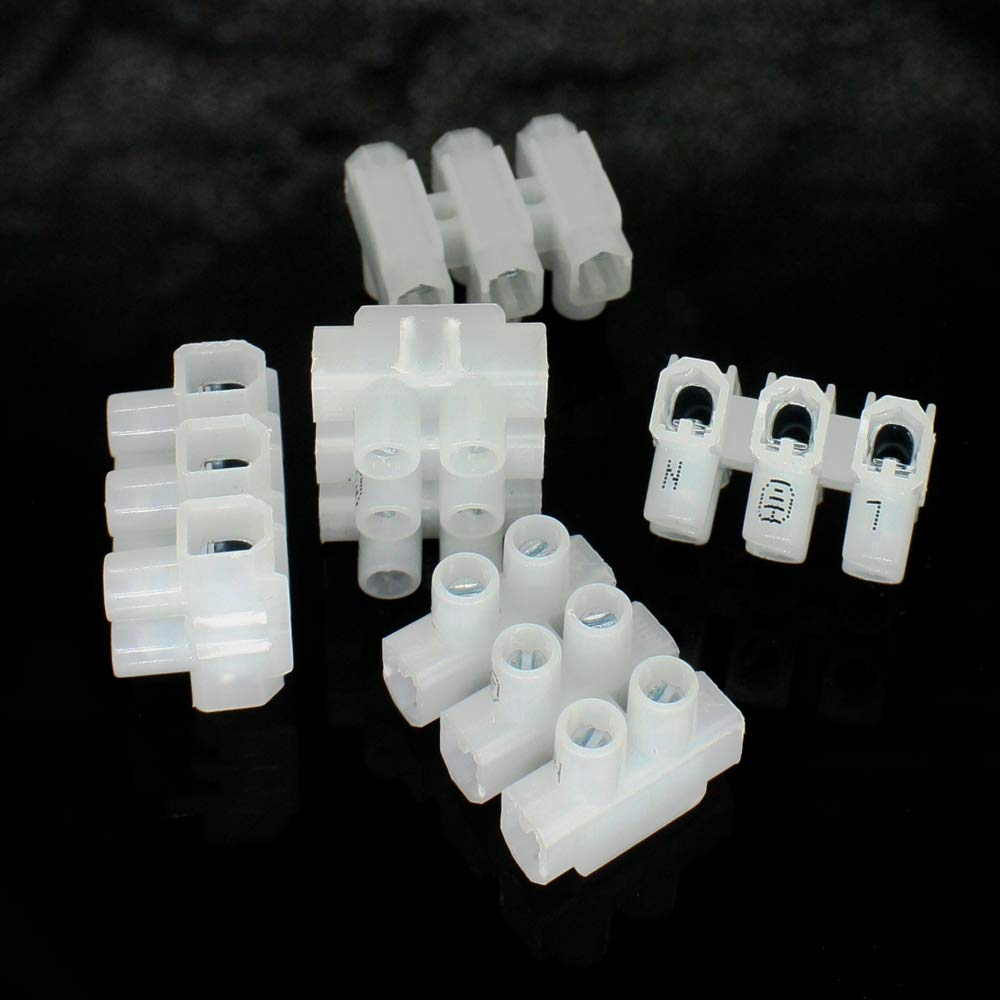 5x Lüsterklemme Mini 1,5 mm² 3plg 18x22x14 mm mit Beschriftung L+Erde+N 450V