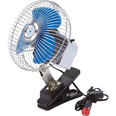 Maxam 6 inch 12V DC power Auto Clip-On Fan