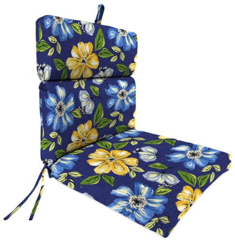 Jordan Manufacturing Plush Chair Cushion in Janice Royal