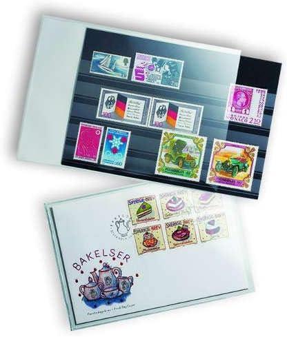 Pochettes de protection souples pour cartes postales modernes 150 x 107 mm.