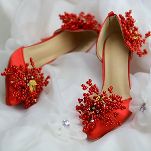 Rouge EU Escarpins 36 9cm Minitoo MZ8246 Heel MinitooUK Femme Red Pour 5 7gC6PXxqw