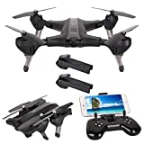 Foldable Drone with 720P Camera Live Video Wide Angle HT Drone Quadcopter Altitude Hold Selfie Drone with Long Battery Life,Auto Hover , Gravity Sensor Compatible With VR Headset