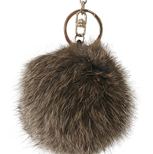 century-star-imitate-rabbit-fur-ball-pompom-handbag-car-key-ring-keychain-brown