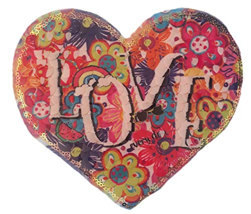 (Heart Multicolored Sequins Patch sew on for Clothes Sequin)