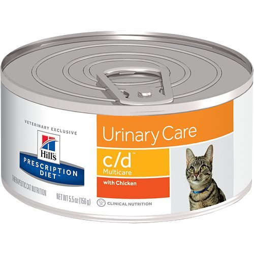 Hill's Prescription Diet c/d Multicare Urinary Care with Chicken Canned Cat Food 24/5.5 oz (Best Canned Cat Food For Urinary Problems)