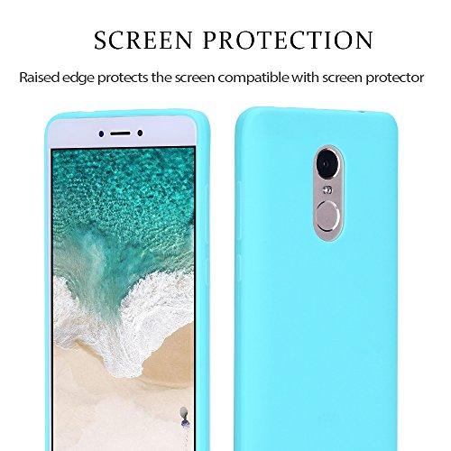 Funda Xiaomi Redmi Note 4, Carcasa Redmi Note 4, RosyHeart Suave Opaco gel Silicona TPU Cover del Delgado Ultra Fina Goma Mate Case del Flexible Tapa Anti-arañazos Protector Caja Bumper para Xiaomi Re Lago verde