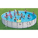 Proseries Frame Pool Set with Mosaic Print 24 Ft.