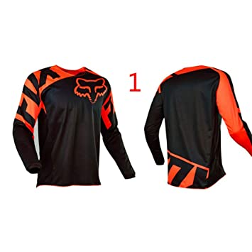 HFJLL Traje de Descenso al Aire Libre - Mountain Bike Motocross Jersey Camiseta de Manga Larga