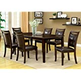 Woodside Traditional Style Dark Cherry Finish 5-Piece Dining Table Set