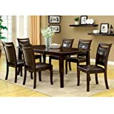 247SHOPATHOME IDF-3024T-5PC-SET Dining-Room-Sets, 5-Piece, Brown