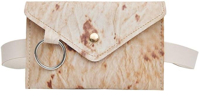 ppactvo Bolso de Cintura Ligero para Mujer, riñonera Ajustable, de Cuero Bolso Cruzado de PU, Bolso de Mensajero de Moda para Mujer, Camping, Viaje One Size,D: Amazon.es: Hogar