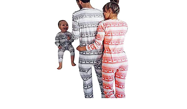 Youngh New Christmas Family Matching Clothes Print Loose Long Sleeve Casual Fashion Jumpsuits Sleepwear Pajamas: Amazon.com: Grocery & Gourmet Food