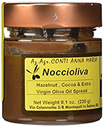 Il Colle Del Gusto Smooth Hazelnut Chocolate Spread with Extra Virgin Olive Oil, Noccioliva, 8.1 Ounce